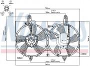 Вентилятор охлаждения радиатора NISSENS 85280