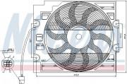 Вентилятор охолодження радіатора NISSENS 85421