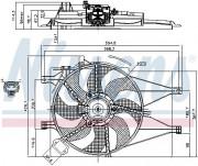Вентилятор охолодження радіатора NISSENS 85434