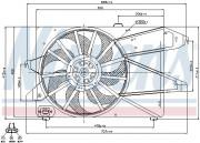 Вентилятор охолодження радіатора NISSENS 85482