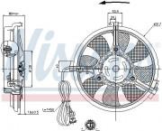 Вентилятор охлаждения радиатора NISSENS 85519