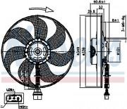 Вентилятор охлаждения радиатора NISSENS 85544