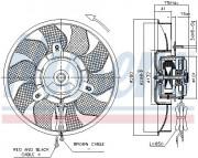 Вентилятор охлаждения радиатора NISSENS 85548