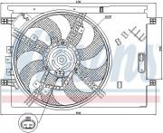 Вентилятор охлаждения радиатора NISSENS 85564