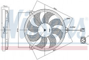 Вентилятор охлаждения радиатора NISSENS 85607