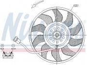 Вентилятор охлаждения радиатора NISSENS 85618
