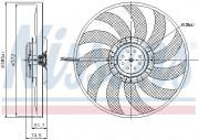Вентилятор охлаждения радиатора NISSENS 85638