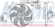 Вентилятор охлаждения радиатора NISSENS 85683