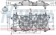 Вентилятор охлаждения радиатора NISSENS 85689