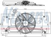Вентилятор охлаждения радиатора NISSENS 85697