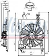 Вентилятор охлаждения радиатора NISSENS 85706