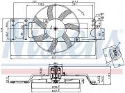 Вентилятор охлаждения радиатора NISSENS 85712