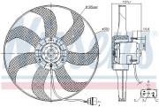 Вентилятор охлаждения радиатора NISSENS 85725