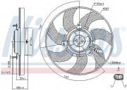 Вентилятор охлаждения радиатора NISSENS 85733