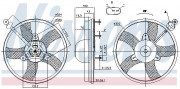 Вентилятор охлаждения радиатора NISSENS 85759
