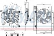 Вентилятор охолодження радіатора NISSENS 85768