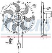 Вентилятор охлаждения радиатора NISSENS 85777