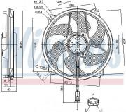 Вентилятор охлаждения радиатора NISSENS 85788