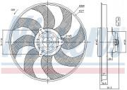 Вентилятор охлаждения радиатора NISSENS 85794