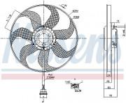 Вентилятор охлаждения радиатора NISSENS 85798