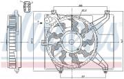 Вентилятор охлаждения радиатора NISSENS 85893