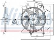Вентилятор охлаждения радиатора NISSENS 85991