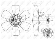 Вентилятор охлаждения радиатора NRF 47429