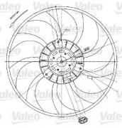 Вентилятор охлаждения радиатора VALEO 698424