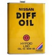 Оригинальное трансмиссионное масло Nissan Diff Oil Hypoid LSD 80w90 GL-5 KLD31-80904
