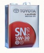 Оригинальное моторное масло Toyota Motor Oil 5w30 GF-5 SN 08880-10705 (08880-10706)