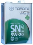 Оригинальное моторное масло Toyota Motor Oil SN 5w20 08880-10605 (08880-10606)