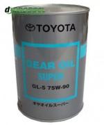 Оригинальное трансмиссионное масло Toyota Gear Oil Super 75w-90 GL-5 08885-02106
