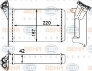 Радиатор печки HELLA 8FH 351 000-511