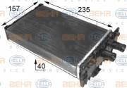 Радиатор печки HELLA 8FH 351 024-431