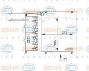 Радиатор печки HELLA 8FH 351 311-151