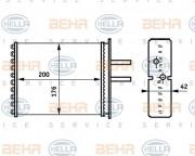 Радиатор печки HELLA 8FH 351 313-381
