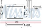 Радиатор печки NISSENS 707076