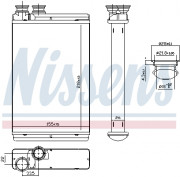Радиатор печки NISSENS 71158