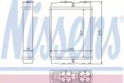 Радиатор печки NISSENS 72050