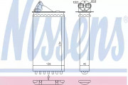 Радиатор печки NISSENS 72655