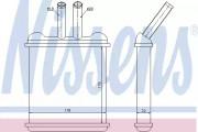 Радиатор печки NISSENS 76502