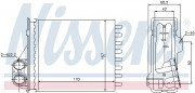Радиатор печки NISSENS 76512