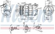 Компресор кондиціонера NISSENS 890656