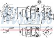 Компрессор кондиционера NISSENS 89418