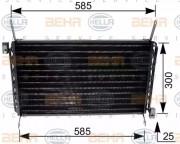Радиатор кондиционера HELLA 8FC 351 035-671