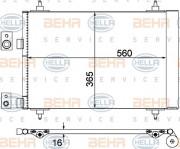 Радиатор кондиционера HELLA 8FC 351 300-674