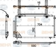 Радиатор кондиционера HELLA 8FC 351 303-761