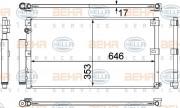 Радиатор кондиционера HELLA 8FC 351 307-121
