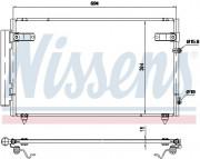 Радиатор кондиционера NISSENS 940368
