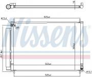 Радиатор кондиционера NISSENS 940537